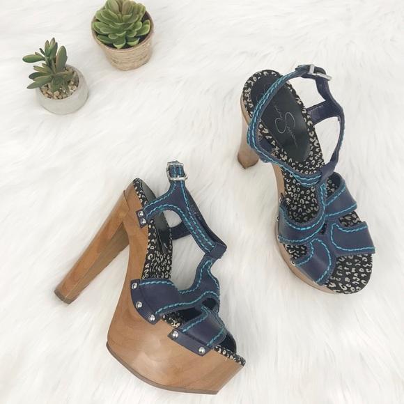155e2d797620 Jessica Simpson Wenda Platform Sandals SZ 8